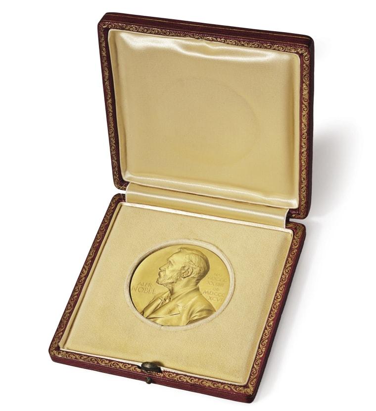 Image: Watson's Nobel medal