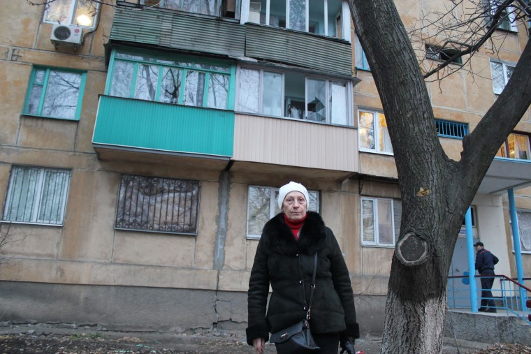 Image: Alina lives in a district of the Ukrainian city of Donetsk that has seen frequent shelling.