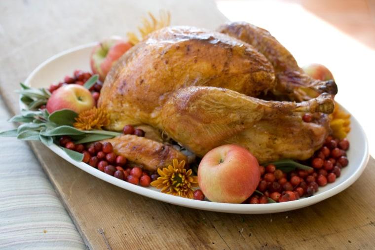 Image: A roasted turkey