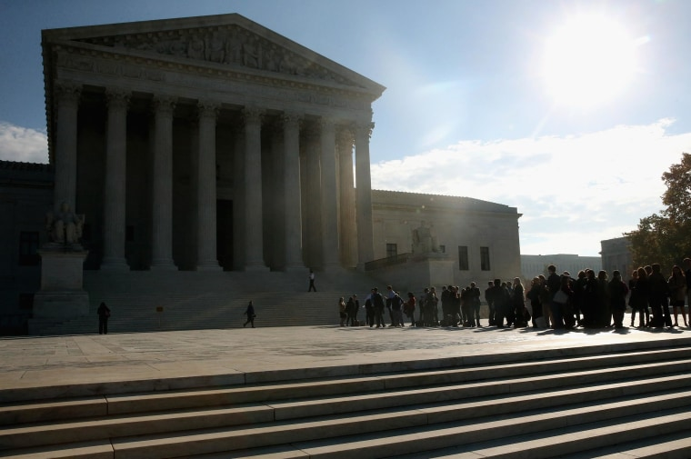 Image: Supreme Court Hears Arguments In Alabama Gerrymandering Case