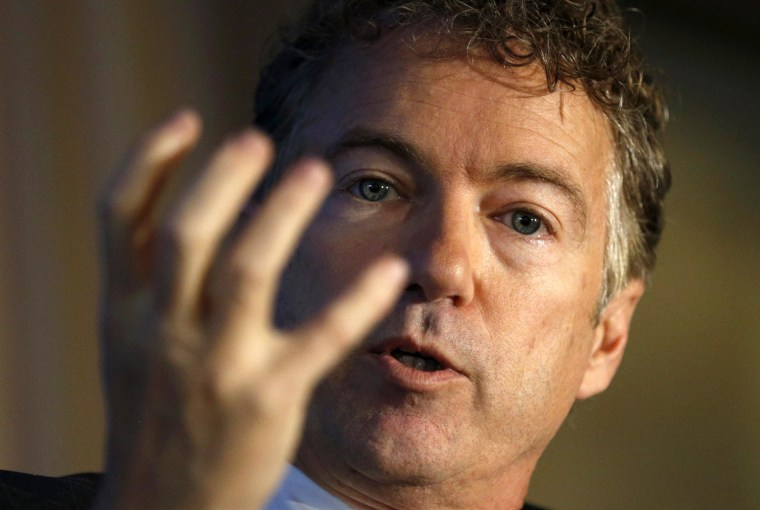 Image: Rand Paul speaks at the Wall Street Journal's CEO Council meeting in Washington