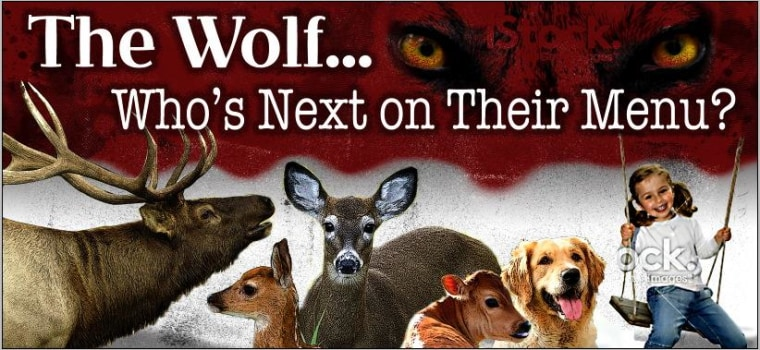 Image: Anti-wolf billboard in Washington state