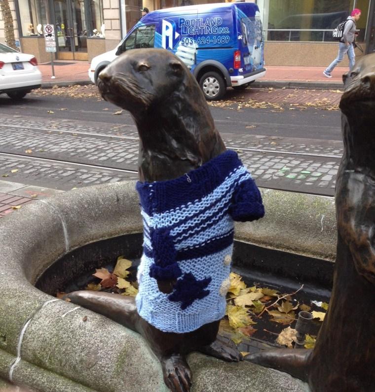 Image: Yarn bombing