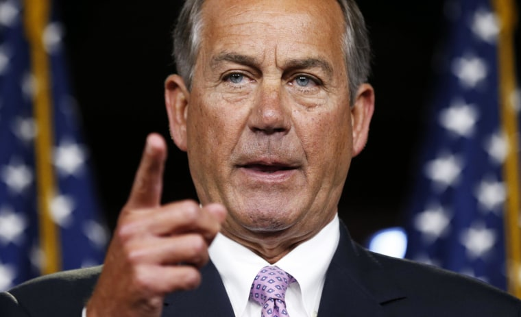Image: John Boehner holds a news conference in the U.S. Capitol in Washington