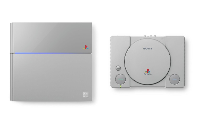 The limited-edition PS4 and its controller use the original PlayStation's gray.