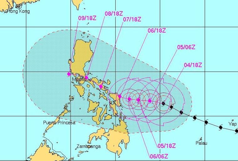 IMAGE: Super Typhoon Hagupit map