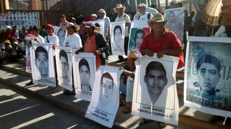 Image: Protest over 43 Mexican missing students