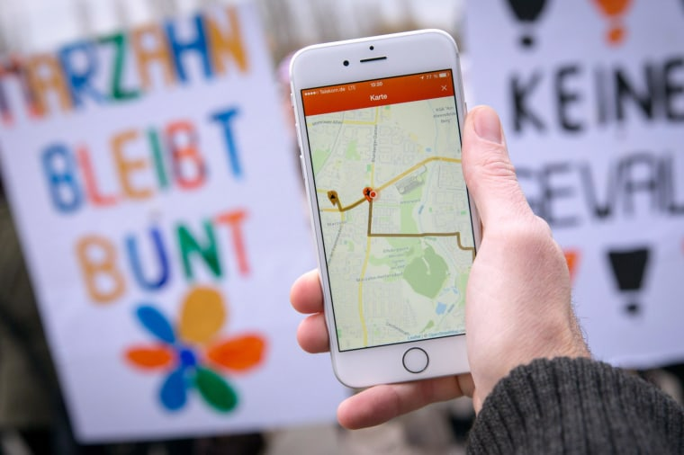 """Image: An """"anti-Nazi"""" app has been unveiled to help people battle far-right extremists a"""