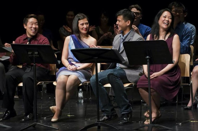 Left to Right: Raymond J. Lee, Ann Sanders, Telly Leung, Christine Toy Johnson