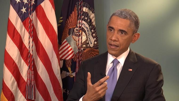 President Barack Obama talks to Telemundo.