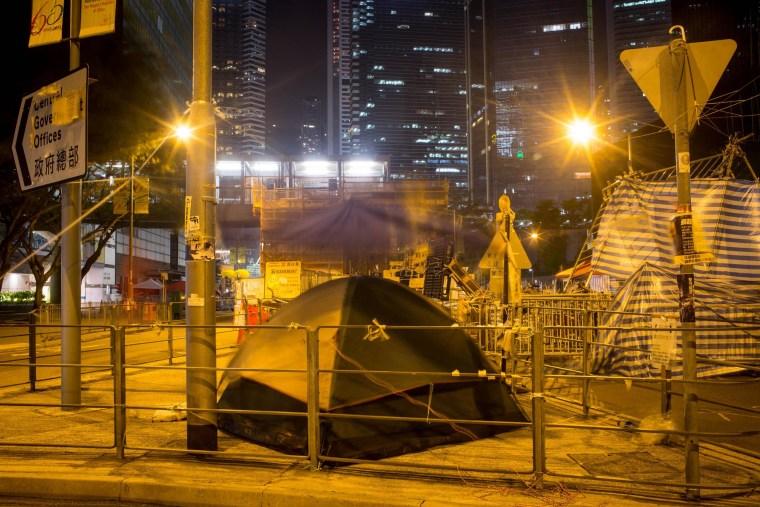 Image: Pro-democracy activists' tents in Hong Kong