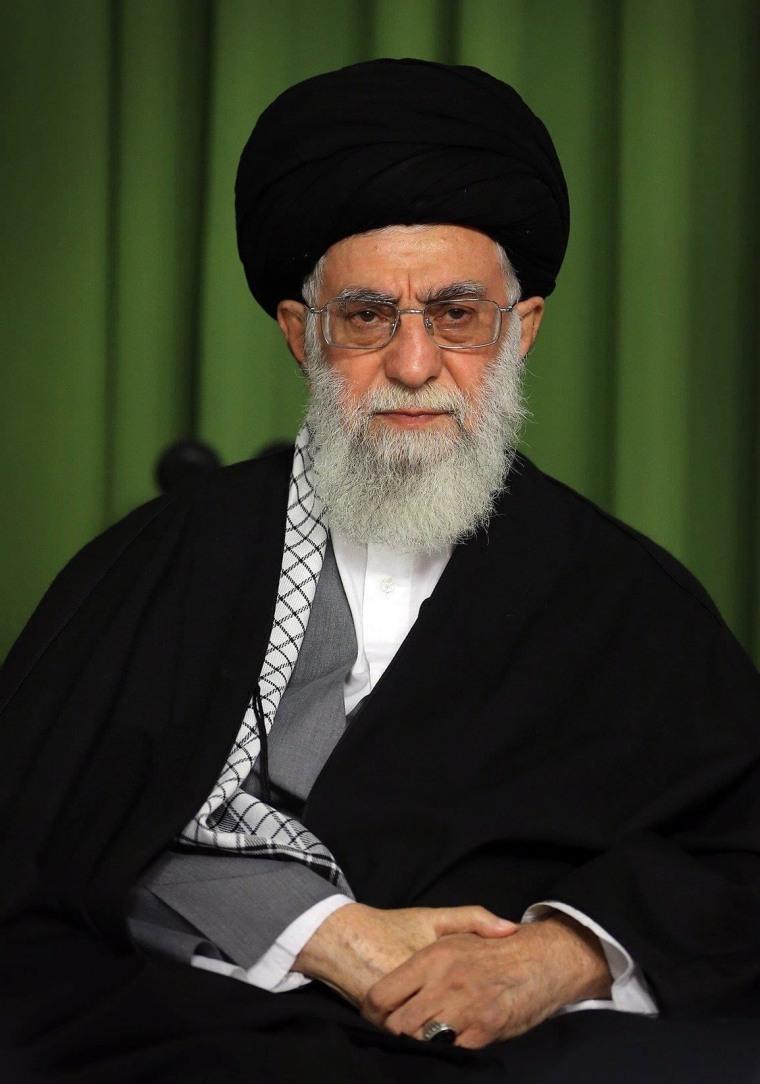 Iran's supreme leader, Ayatollah Ali Khamenei, during a ceremony in Tehran last month.