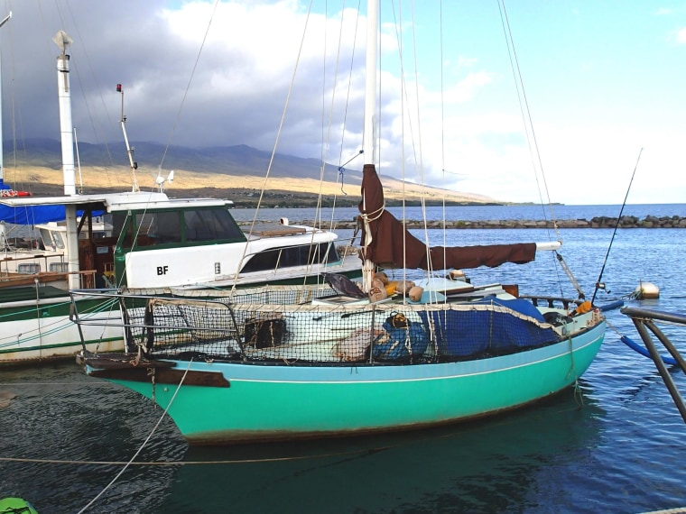 Ron Ingraham's 25-foot sailboat the Malia, see here in an undated photo, was found about 64 miles south of Oahu, Hawaii, on Dec. 9, 2014.
