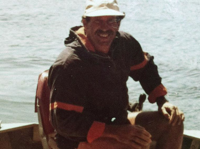 Ron Ingraham, seen here in the 1980s, was found in his sailboat 64 miles south of Oahu, Hawaii, on Dec. 9, 2014. He had been missing for nearly two weeks before he was rescued.