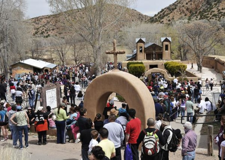 "A picture of a ""posada"" at the El Santuario De Chimayo"