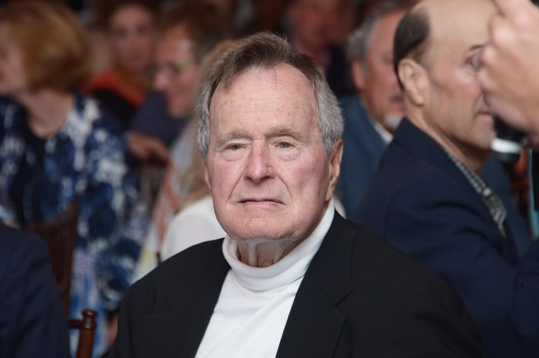 """Image: FILE: George H.W. Bush Still Hospitalized With Rising Fever HBO Documentary Special Screening Of """"41"""""""