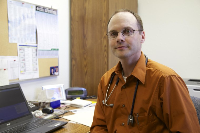 David Brost came to the McCone County Health Center after a decade as an oncology physician's assistant in Billings, Mont. Finding staff to fill positions in rural health centers longterm is a problem that plagues rural towns.