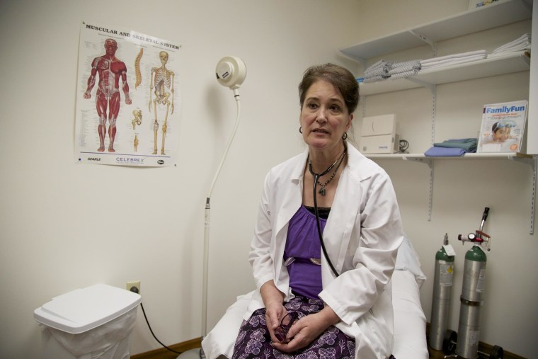 Patti Wittkopp, 60, is a physicians assistant who has been the primary healthcare provider in McCone County for nearly 15 years. The aging of her community has been particularly hard on her--she is not just losing patients. She is losing friends. May 27, 2014.