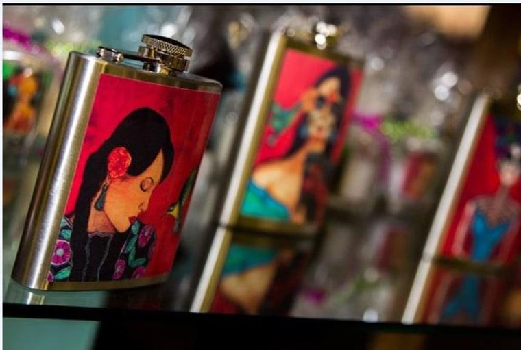 Flask by L.A.-based artist Anna Alvarado