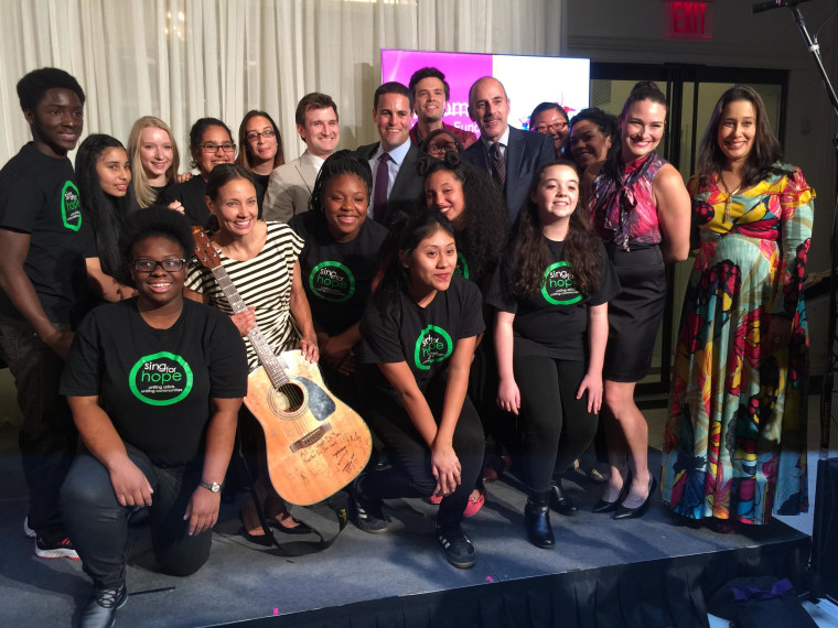 The Sing for Hope Youth Chorus at the Lulu and Leo Gala in November 2014 - Sing for Hope is a grant recipient from the Lulu and Leo Fund.