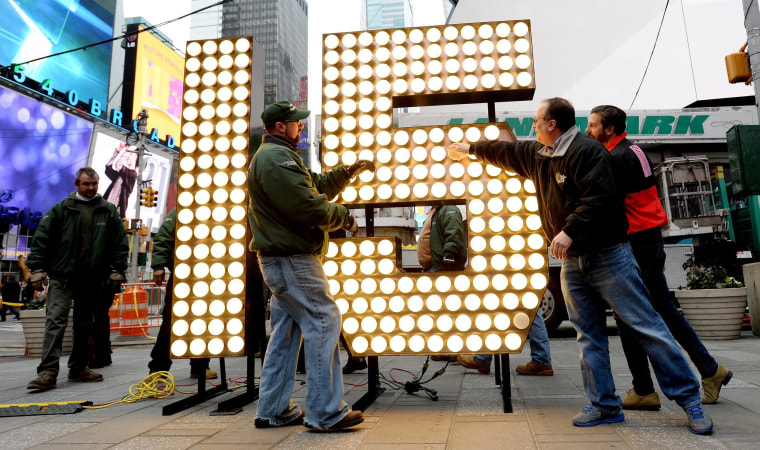 Image: New Year's Eve Preparations in Times Square