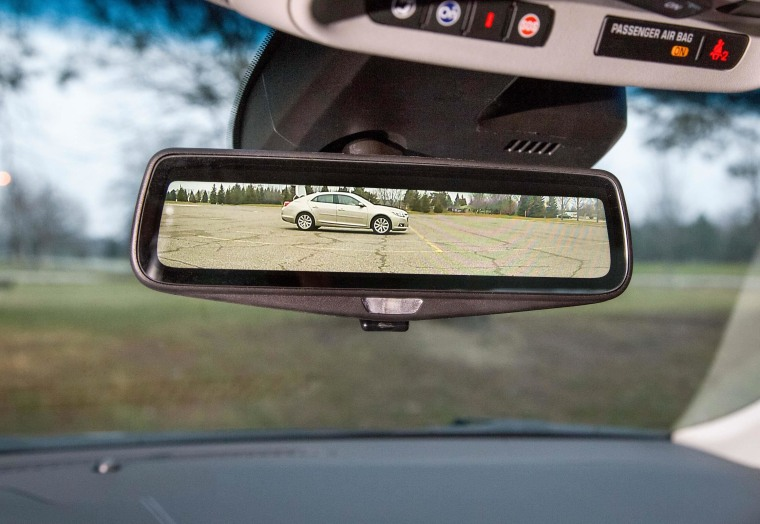 Image: Cadillac's high-tech rearview mirror