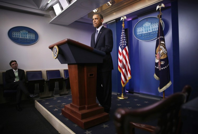 Image: President Obama Makes Statement On Grand Jury Decision On Ferguson Shooting