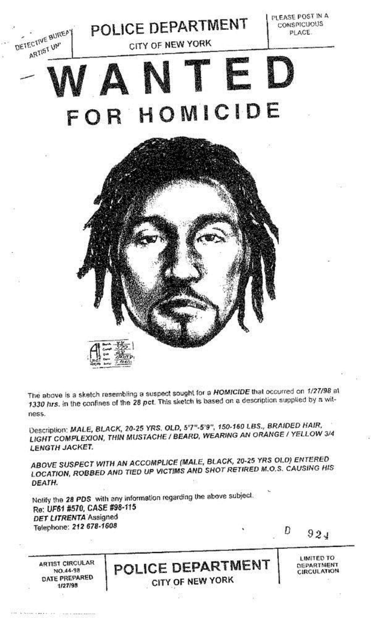 The sketch circulated by authorities soon after the murder.