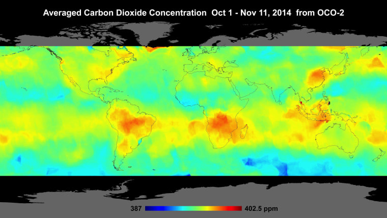 Image: Carbon dioxide concentrations