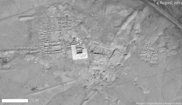 The Mari archaeological site as it appeared in 2011.