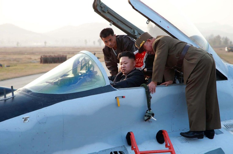 Image: Kim Jong Un in a military jet