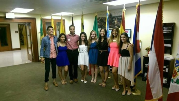 Image: Tyler Toledano and his board members of Alianza Latina