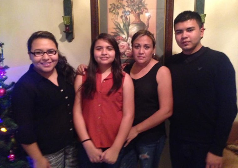 Brenda Rodriguez,  at left, with her siblings and her mother, Rosario Lima.