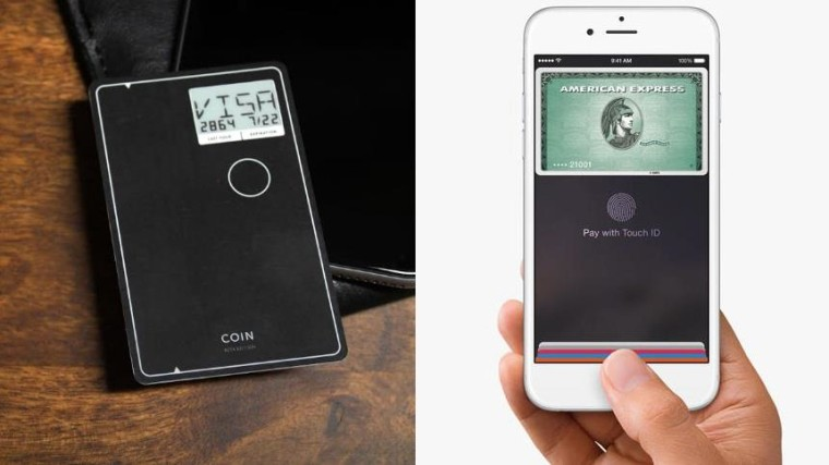 The Coin puts multiple cards on a single smart one, and Apple Pay is accepted at dozens of retailers.