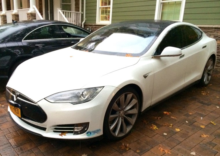 This Tesla was seized by state authorities.