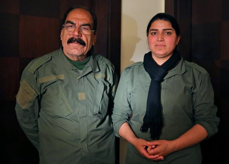 Image: Husband and wife Qassim Shasho and Harbiya Hassan talk about their fight against the Islamic State.