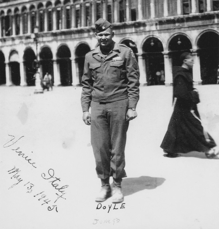 World War II soldier Warren McCauley in Venice, Italy on May 13, 1945.