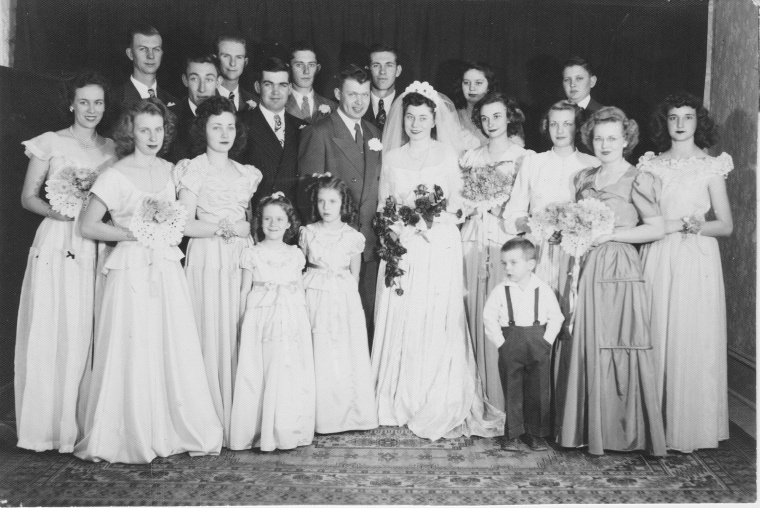 World War II soldier Warren McCauley and his wife Twila on their wedding day.