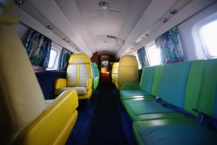 "Image: Publicity photo of the interior of the  ""Hound Dog II"", a jet owned by entertainer Elvis Presley"