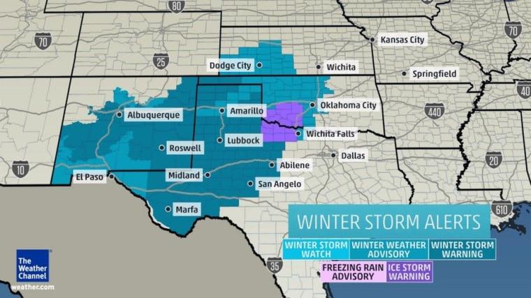IMAGE: Winter storm alerts across the Southwest