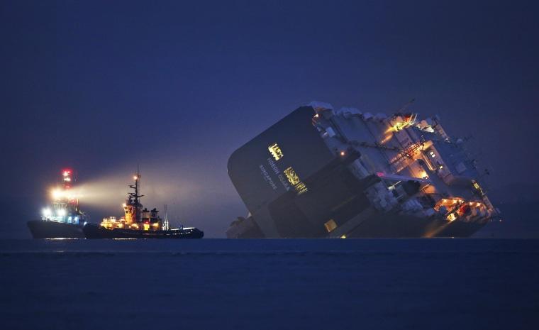 Cargo Ship Runs Aground