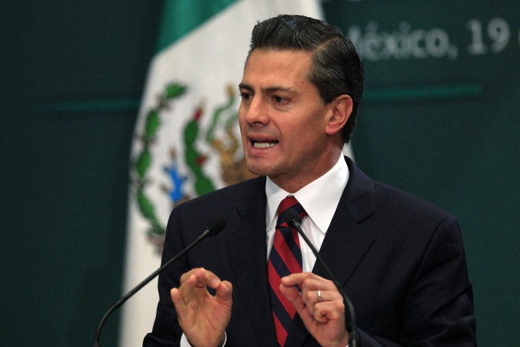 Image: Mexico's President Enrique Pena Nieto speaks during the 37th session of the public national security council in Mexico City