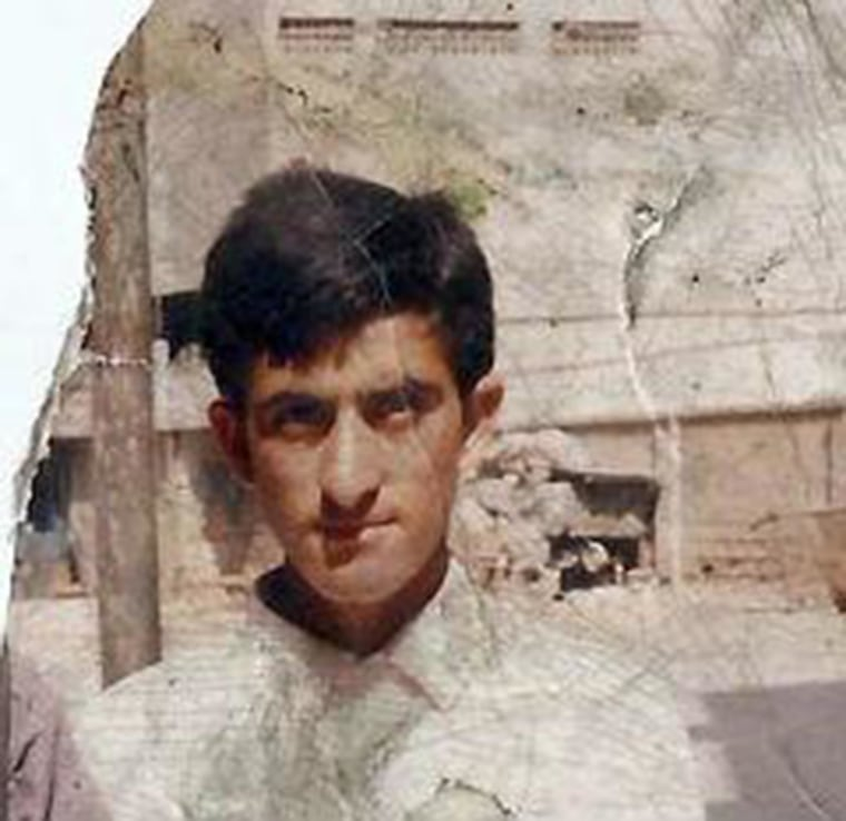 This undated photo shows Shafqat Hussain, who was convicted in Pakistan for involuntary manslaughter aged just 14.