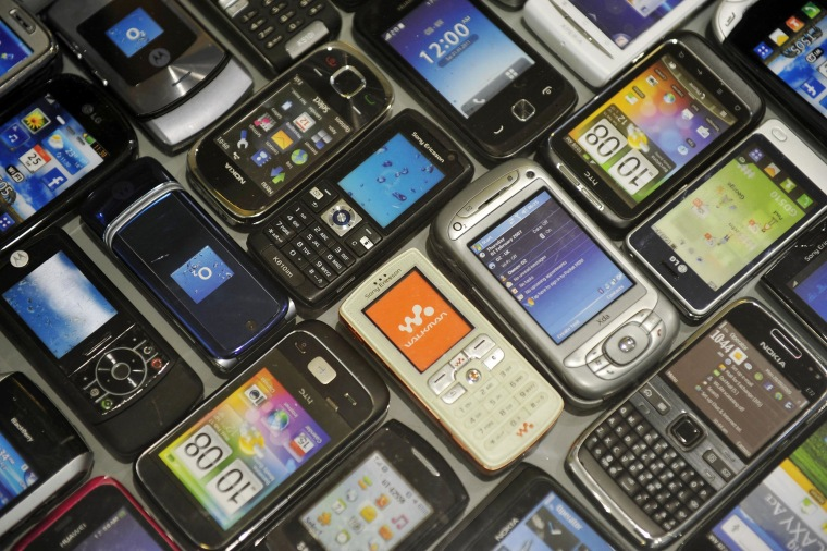 Image: Used cellphones