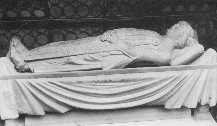 Image: Sarcophagus containing body of Cangrande della Scala of Verona