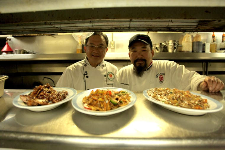 Frank (L) and Tommy Wong of Trey Yuen in Louisiana.