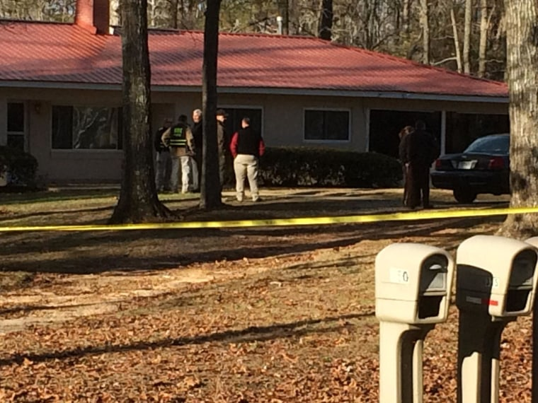 Image: Authorities say multiple bodies were found a home in Paulding County on Jan. 6, 2015.