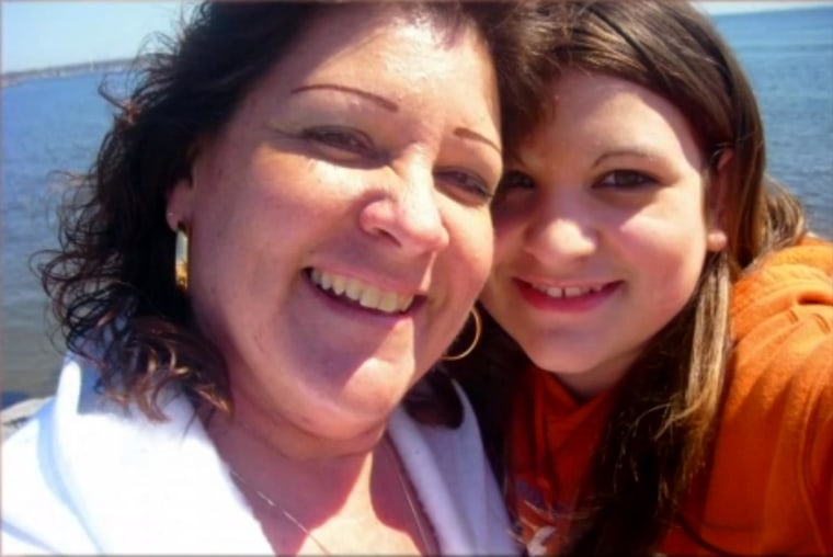 Jackie Fortin and her 17-year-old daughter Cassandra.