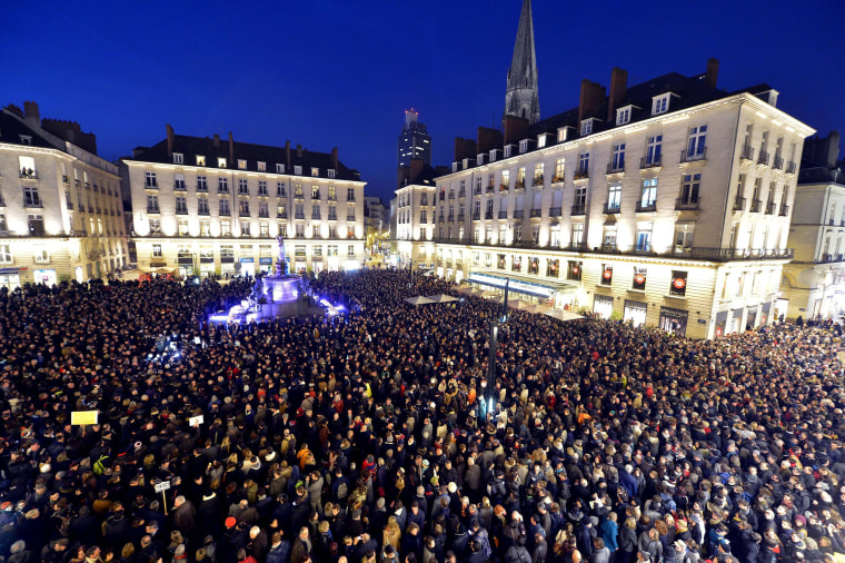 Image: FRANCE-ATTACKS-MEDIA-DEMO