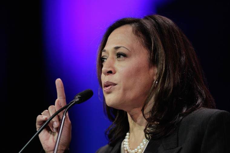 Attorney General Kamala D. Harris speaks at the 2014 California Democrats State Convention at the Los Angeles Convention Center in Los Angeles, Calif., on March 8.
